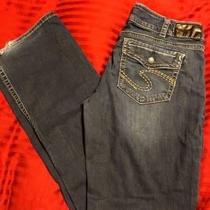 Women's silver jeans 33/33